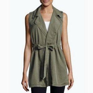 """Anthropology """"Velvet Heart"""" Artemis Long Sleeveless Crossover Vest. 100 %Tencil"""